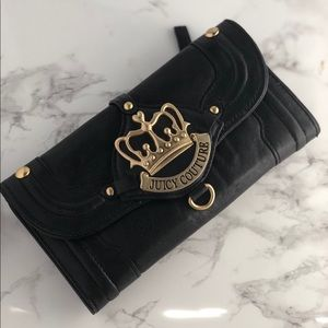 Juicy Couture Black Faux Leather Wallet